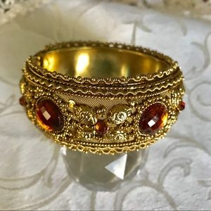 Twos Company Hinged Cuff Bracelet